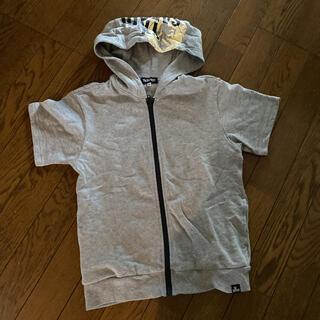 タケオキクチ(TAKEO KIKUCHI)のTAKEOKIKUCHI  タケオキクチ 半袖パーカー 140cm(Tシャツ/カットソー)