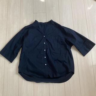 ジーユー(GU)のGU シャツ ネイビー S(シャツ/ブラウス(長袖/七分))