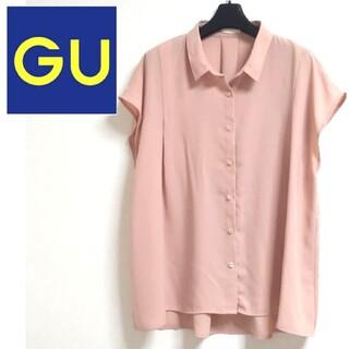 ジーユー(GU)のGU エアリーシャツ シフォンブラウス XL(シャツ/ブラウス(半袖/袖なし))