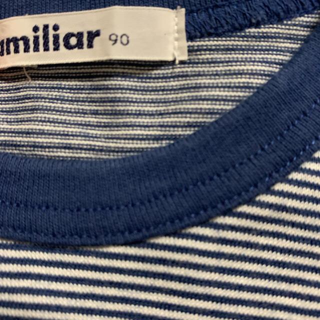 familiar(ファミリア)のfamiliar Tシャツ 90 難あり キッズ/ベビー/マタニティのキッズ服男の子用(90cm~)(Tシャツ/カットソー)の商品写真