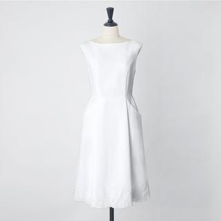 FOXEY - 2020年 フォクシー アマリリス ワンピース コットンピケ 刺繍 ホワイト 白