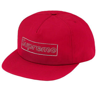 Supreme - シュプリーム   SUPREME カウズ KAWS キャップ 赤 ボックスロゴ