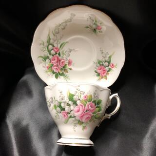 美品 希少 ロイヤルアルバート ピンクのバラとスズランのカップ&ソーサー