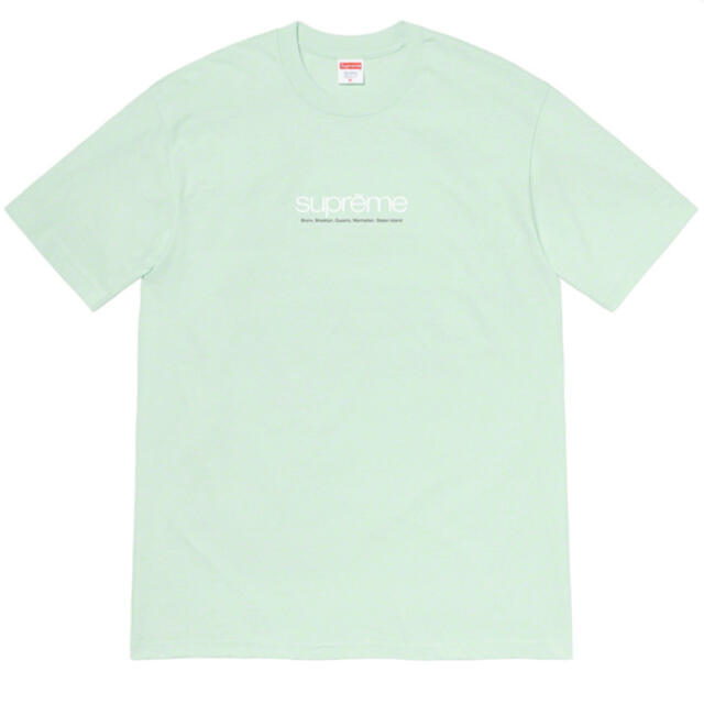 "Supreme(シュプリーム)のSupreme Five Boroughs Tee ""Pale Aqua"" メンズのトップス(Tシャツ/カットソー(半袖/袖なし))の商品写真"