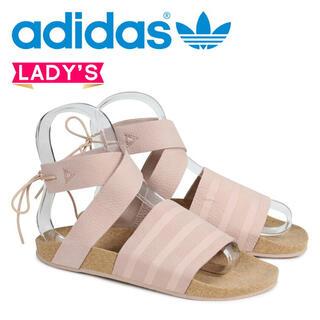 アディダス(adidas)の新品 アディダス  adidas アディレッタ サンダル ピンク 23.5(サンダル)