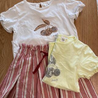 エーキャンビー(A CAN B)のスカート、Tシャツ2枚 3点セット キッズ(Tシャツ/カットソー)