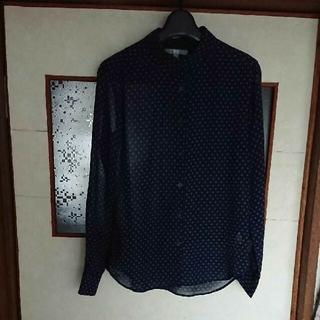 ユニクロ(UNIQLO)のユニクロ ドットシアーシャツ(シャツ/ブラウス(長袖/七分))