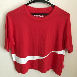ジーユー(GU)のGU コカ・コーラ 赤 S コラボTシャツ(Tシャツ/カットソー(半袖/袖なし))