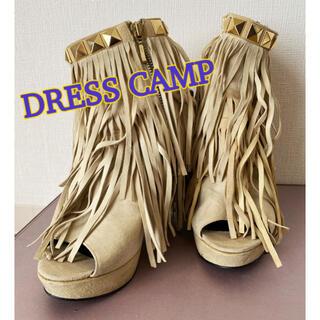 ドレスキャンプ(DRESSCAMP)の★dress camp★ドレスキャンプ 36 ベージュ フリンジ ブーツ(ブーツ)