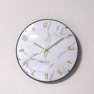 大理石柄 掛け時計 ゴールド オシャレ  フランフラン系