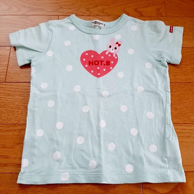 HOT BISCUITS(ホットビスケッツ)のHOT BISCUITS ミントグリーンTシャツ キッズ/ベビー/マタニティのキッズ服女の子用(90cm~)(Tシャツ/カットソー)の商品写真