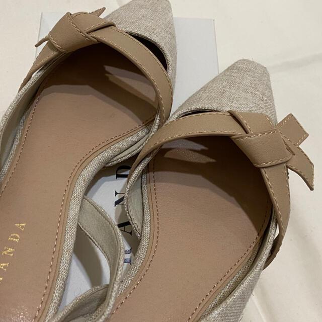 RANDA(ランダ)のランダ バックストラップパンプス Mサイズ レディースの靴/シューズ(ハイヒール/パンプス)の商品写真