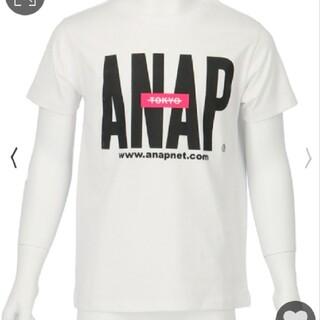アナップキッズ(ANAP Kids)のANAPkids新品ロゴTシャツホワイト(Tシャツ/カットソー)