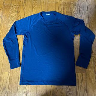 ユニクロ(UNIQLO)のユニクロU ドライEX カットソー ネイビー ストレッチ(Tシャツ/カットソー(七分/長袖))
