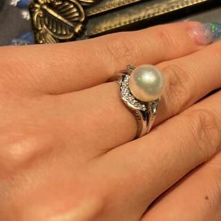 ダイヤモンド パールリング pt900(リング(指輪))