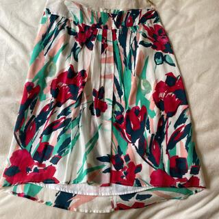 ケンゾー(KENZO)のKENZO 花柄スカート(ひざ丈スカート)