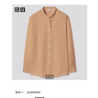 ユニクロ(UNIQLO)のシアーバンドカラーシャツ(シャツ/ブラウス(長袖/七分))