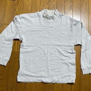ユニクロ(UNIQLO)のユニクロU モックネックカットソー グレー(Tシャツ/カットソー(七分/長袖))