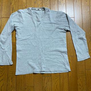 ユニクロ(UNIQLO)のユニクロ カットソー グレー(Tシャツ/カットソー(七分/長袖))