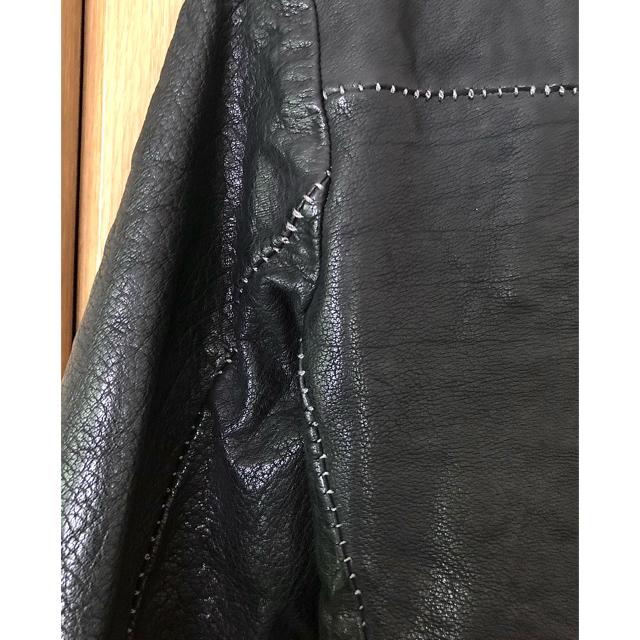 ISAMUKATAYAMA BACKLASH(イサムカタヤマバックラッシュ)のincarnation バッファローレザー ワイドネックデュアルジップ ブルゾン メンズのジャケット/アウター(レザージャケット)の商品写真