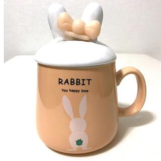 新品 うさぎ マグカップ 蓋 スプーン セット ウサギ