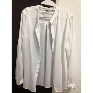 ユニクロ(UNIQLO)のUNIQLO バンドカラーシャツ ホワイト(シャツ/ブラウス(長袖/七分))