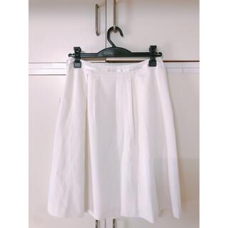 エニィスィス(anySiS)のanysis スカート ホワイト(ひざ丈スカート)