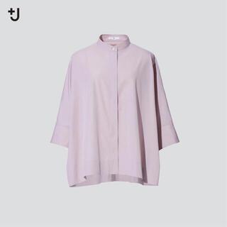 ユニクロ(UNIQLO)のユニクロ ジルサンダー 7分シャツ Sサイズ ピンク(シャツ/ブラウス(長袖/七分))