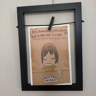 奈良美智さんポストカードと額のセット(写真額縁)