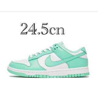 "ナイキ(NIKE)の24.5cm NIKE WMNS DUNK LOW ""GREEN GLOW""(スニーカー)"