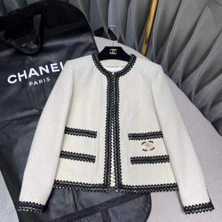 CHANEL - CHANEL ホワイトヴィンテージツイードジャケット