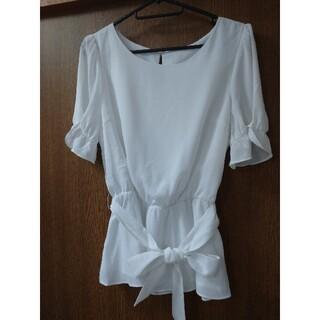 プロポーションボディドレッシング(PROPORTION BODY DRESSING)のウエストリボン ブラウス(シャツ/ブラウス(半袖/袖なし))