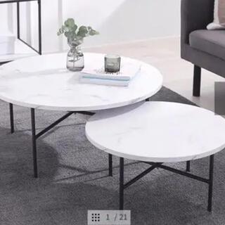 IKEA - ロウヤ 大理石ローテーブル