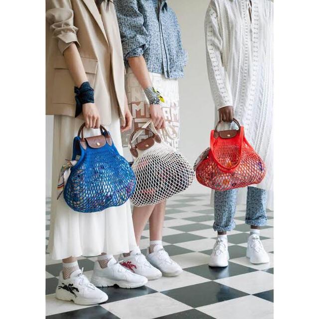 LONGCHAMP(ロンシャン)のロンシャン フィレ コラボ メッシュバッグ ル プリアージュ レディースのバッグ(ハンドバッグ)の商品写真