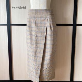 テチチ(Techichi)の♡techichi グレンチェックタイトロングスカート(ロングスカート)