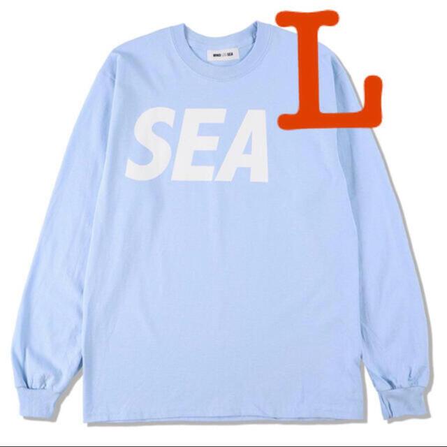 SEA(シー)のSEA L/S T-SHIRT Sax White Wind And Sea L メンズのトップス(Tシャツ/カットソー(七分/長袖))の商品写真