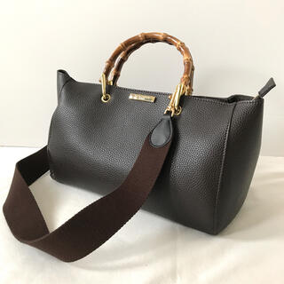 DEUXIEME CLASSE - 美品 ケイティロクストン バンブーハンドバッグ  ストラップ付き ブラウン