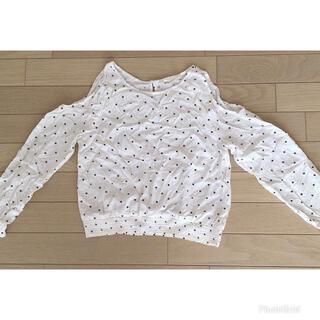 エイチアンドエム(H&M)のトップス・肩出し・8部丈Tシャツ・140サイズ(Tシャツ/カットソー)