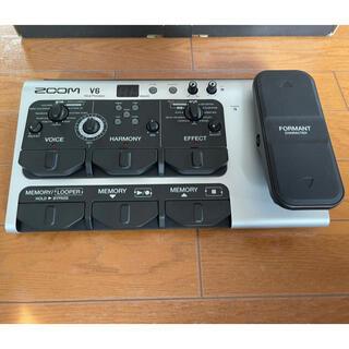 ズーム(Zoom)のZoom V6 ボーカルエフェクター【XLRケーブルとマイクスタンド付き】(エフェクター)