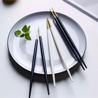 北欧風 高級ステンレス箸 2膳セット(カトラリー/箸)