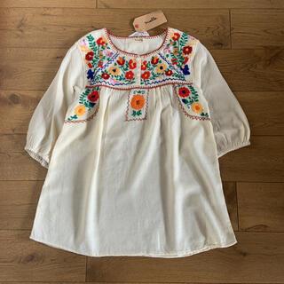 IENA - mielleミエル メキシコ刺繍チュニックブラウス タグ付き