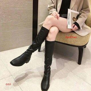 秋冬のブーツは膝を通さないで、新タイプの騎士靴は、弾みがあるブーツです。M(ブーツ)