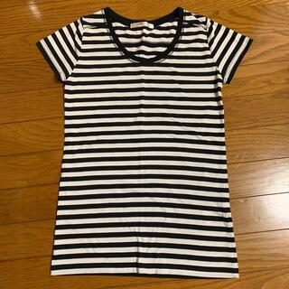 アズールバイマウジー(AZUL by moussy)のアズール ボーダー Tシャツ 半袖 XS 美品(Tシャツ(半袖/袖なし))