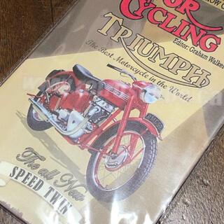 トライアンフ MOTOR CYCLING ブリキ看板(その他)