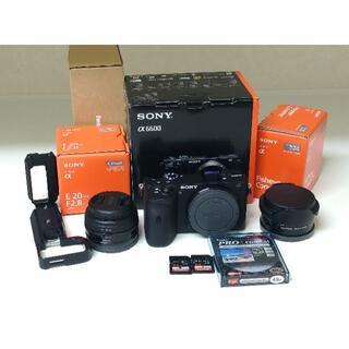 SONY - SONY α6600 20mmレンズ、FEコンバータ、Lブラケット等セット、美品