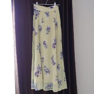 MERCURYDUO - MERCURYDUO 花柄ロングプリーツスカート