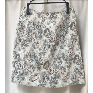 プロポーションボディドレッシング(PROPORTION BODY DRESSING)の花柄スカート「プロポーションボディドレッシング」(ミニスカート)