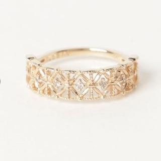 ノジェス(NOJESS)のNOJESSノジェス K10YGダイヤモンドピンキーリング(リング(指輪))