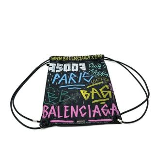 Balenciaga - バレンシアガ 581779 グラフィティバザール ドローストリングバッグ