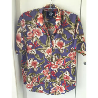 リーバイス(Levi's)のREVI'S PETIT アロハシャツ パープル  S〜M(シャツ/ブラウス(半袖/袖なし))
